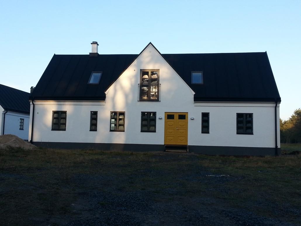 Nybyggnad av villa i Skillinge